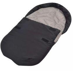 vidaXL Śpiworek do nosidełka lub fotelika samochodowego, czarny Darmowa wysyłka i zwroty