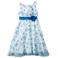 Sukienki dziecięce, Sukienka na uroczyste okazje bonprix biało-turkusowy motyl