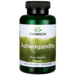 Ashwagandha 450mg żeń-szeń indyjski 100 kapsułek SWANSON