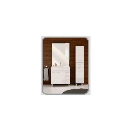 catania zestaw szafka + umywalka plan 80, biały 034-z-08004+1724 marki Deftrans