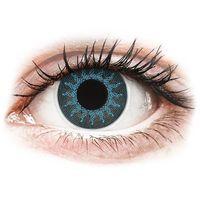 Soczewki kontaktowe, Soczewki kolorowe niebieskie SOLAR BLUE Crazy Lens 2 szt.
