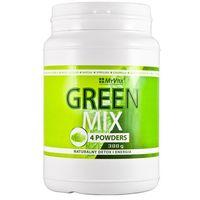 Detox i oczyszanie organizmu, Green Mix 4W1, Spirulina Chlorella Młody Jęczmień Matcha, 300g