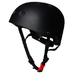 kiddimoto® Kask ochronny Design Sport, Matt czarny - rozm. M, 53-58cm