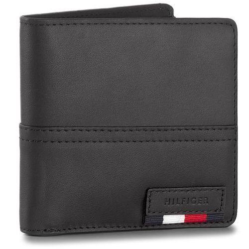 Portfele i portmonetki, Duży Portfel Męski TOMMY HILFIGER - Branded Leather Cc & Back Coin Zip AM0AM02931 002