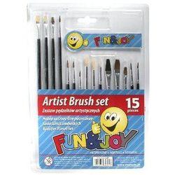 Zestaw pędzelków artystycznych Fun&Joy (15 sztuk)