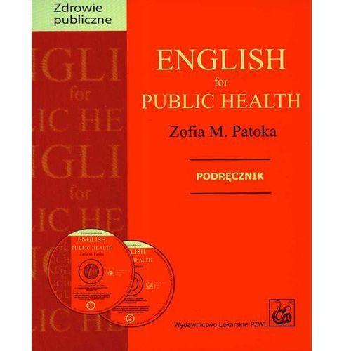 Książki medyczne, English for public health + 2 CD Podręcznik (opr. miękka)