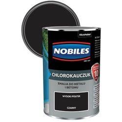 Emalia chlorokauczukowa Nobiles do metalu i betonu czarna 0,9 l