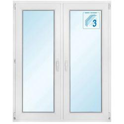 Okno PCV rozwierne + rozwierno-uchylne trzyszybowe 1165 x 1435 mm symetryczne
