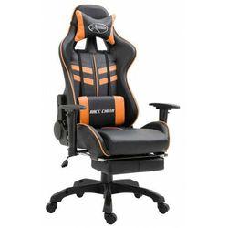 Pomarańczowy ergonomiczny fotel gamingowy - Triston