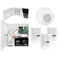Zestawy alarmowe, Zestaw alarmowy domu Płyta główna CA-4 VP Manipulator CA-4 VKLED 3x Czujka ruchu LC-100 PET do 25kg Sygnalizator wewnętrzny