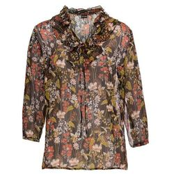 Shirt z połyskiem bonprix ciemnoniebiesko-srebrny