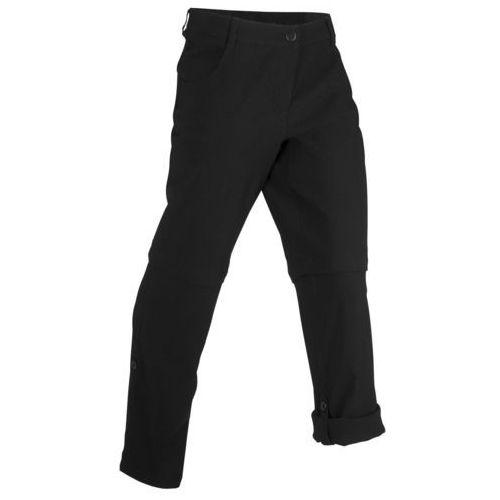 Spodnie damskie, Spodnie trekkingowe funkcyjne z odpinanymi nogawkami bonprix czarny