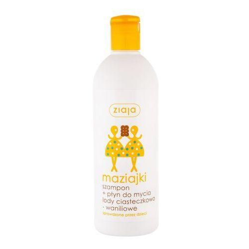 Kosmetyki do kąpieli dla dzieci, Maziajki - Szampon i Płyn do Mycia dla Dzieci Lody Ciasteczkowo-Waniliowe - 400 ml - Ziaja