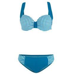 Biustonosz bikini bandeau bonprix turkusowy