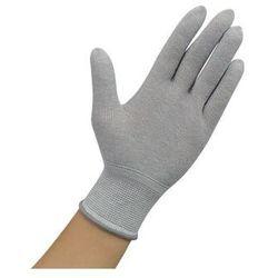 Rękawiczki ESD bez warstwy antypoślizgowej, szare, rozmiar XL