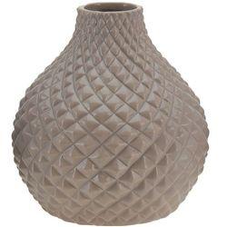 Ceramiczny wazon na kwiaty, dekoracje - okrągły Ø 18 cm