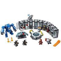 Klocki dla dzieci, Lego SUPER HEROES Zbroje iron mana iron man hall of armour 76125