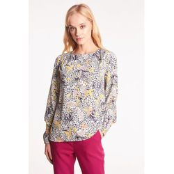 Prosta bluzka w kwiatowy wzór - Duet Woman