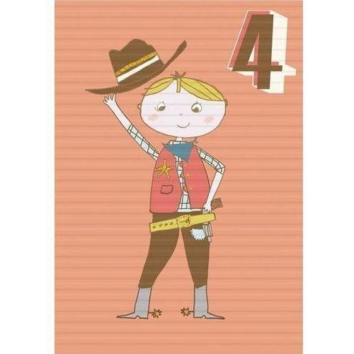 Pozostałe artykuły szkolne, Karnet B6 z kopertą Urodziny 4 chłopiec