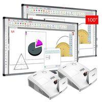 Tablice interaktywne, ZESTAW: 2 x AVTek TT-Board 100 PRO + projektor ulktakrótkoogniksowy Vivitek D757WT - AKTYWNA TABLICA