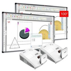 ZESTAW: 2 x AVTek TT-Board 90 PRO + projektor ulktakrótkoogniskowy Vivitek D757WT - AKTYWNA TABLICA