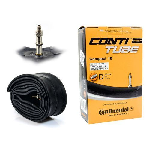 Opony i dętki do roweru, CO0181181 Dętka Continental Compact 17/18'' x 1,25'' - 1,75'' wentyl dunlop 26 mm