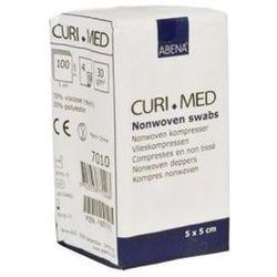 Niejałowe kompresy włókninowe (30G 4W) Curi-Med, ROZMIAR KOMPRESU: 5cmx5cm