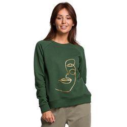 Klasyczna bluza dresowa z nadrukiem - trawiasta