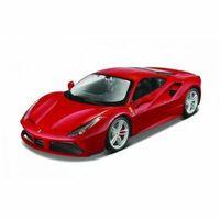 Figurki i postacie, Model metalowy Ferrari 488 GTB czerwony 1:24 do skladania
