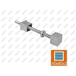 Nierdzewne mocowanie boczne słupka AISI304, JP/26x