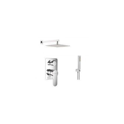 Podtynkowy zestaw prysznicowy z baterią excellent oxalia arex.9045cr, chrom zest225 marki Zestawy