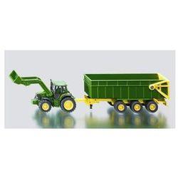 Traktor john deere z przyczepą i ładowarką
