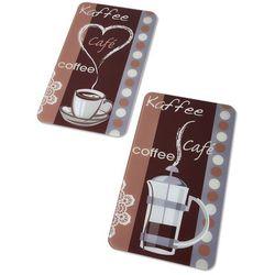 """Płyty ochronne na kuchenkę """"Zapach kawy"""" (2 części) bonprix brązowo-kolorowy"""