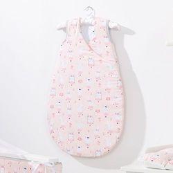MAMO-TATO Śpiworek niemowlęcy do spania Bubble Zajączki morelowe