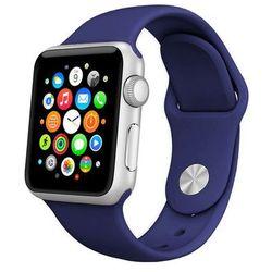 GRANATOWY Sportowy silikonowy pasek do Apple Watch 42mm - Granatowy