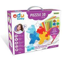 Puzzle, Edu Baby Puzzle 3D Pets
