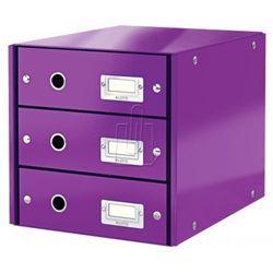 Pojemnik Leitz Click&Store z 3 szufladami fioletowy 60480062