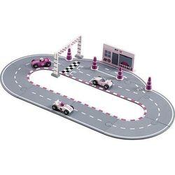 Drewniany Tor Wyścigowy Kids Concept - Pink KC412799
