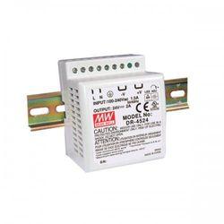 Zasilacz impulsowy na szynę DIN DR 45-12 Moc: 42W; I max: 3,5A; Uwy: 10,8-13,2V DC; Uwe 85-264V AC, 120-370V DC