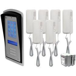 Zestaw 6-rodzinny panel domofonowy wielorodzinny z szyfratorem RADBIT BRC10 MOD