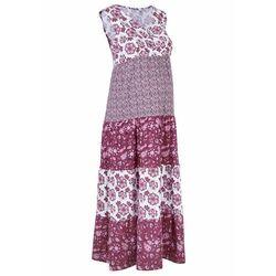 Sukienka ciążowa i do karmienia, z bawełny organicznej bonprix jeżynowy wzorzysty