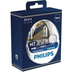 Philips 12972RVS2 RacingVision +150% H7 żarówka do reflektora, 2 sztuki