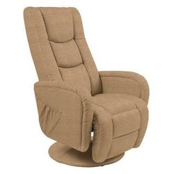 Fotel Pulsar 2 beżowy z funkcją masażu kolor beżowy