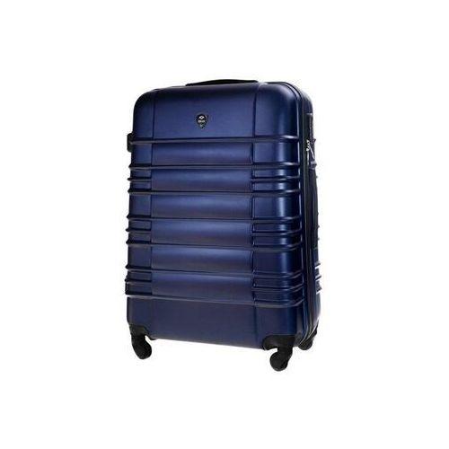 Torby i walizki, Duża walizka podróżna stl838 granatowa