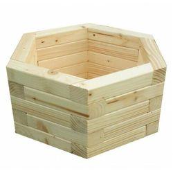 Drewniana sześciokątna donica ogrodowa 15 kolorów - Erli 3X
