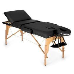 KLARFIT MT 500 stół do masażu 210 cm 200 kg składany pianka drobnokomórkowa torba czarny