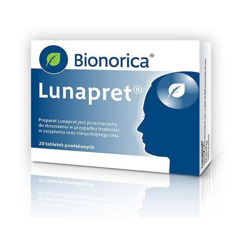Leki nasenne, Lunapret 250mg + 60mg x 20 tabl.powlekanych