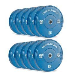 Nipton Bumper Plates Obciążniki 5 par 20kg Niebieskie Twarda guma