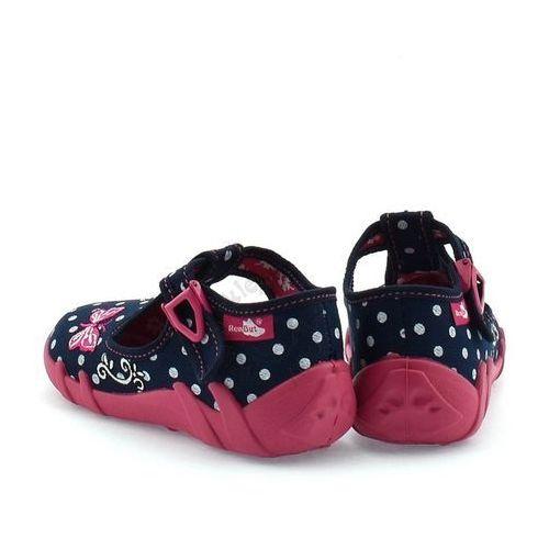 Obuwie domowe dziecięce, Kapcie dla dzieci RenBut 13-102_0102 - Różowy ||Granatowy