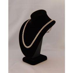 Podłużny, mały ekspozytor do prezentacji biżuterii - zamszowy, czarny model II